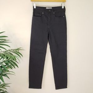 Everlane | High-Rise Slim Straight Black Jeans